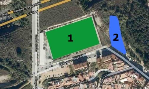 Zona esportiva municipal de la ll ntia for Piscina municipal mataro