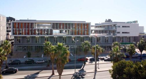 Perspectiva de l'edifici El Rengle, amb façana a la carretera de Barcelona (N-II). Foto: PUMSA