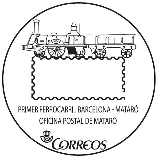 Correos estrena un mata segells tur stic dedicat al primer for Oficina correus barcelona