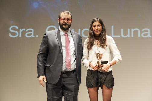 L'atleta Clàudia Luna va ser guardonada amb el premi al Millor Esportista 2015. Foto: Sergio Ruiz