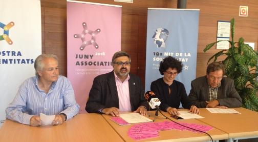 Jaume González, Joaquim Fernàndez, Isabel Martínez i Ramon Salicrú durant la presentació. Foto: AJ