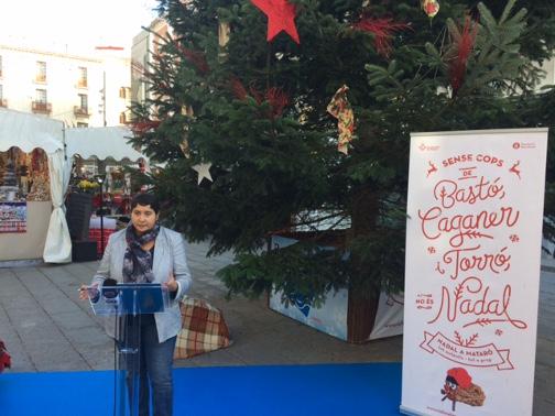La regidora Dolors Guillén en la presentació de la campanya de Nadal. Foto: Ajuntament