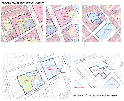 Planejament vigent i nova proposta