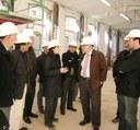L'alcalde visita les obres de rehabilitació de la nau curta de Can Marfà on s'ubicarà el futur Museu del Gènere de Punt