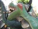 Els dracs de Mataró conviden el Drac Gran i el Drac Petit de Terrassa al seu acte de Les Santes