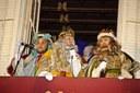 Els Missatgers Reials de Ses Majestats els Reis d'Orient arriben al Port de Mataró en un llaüt