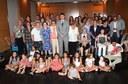 L'alcalde rep les dones que porten el nom de les Santes patrones de Mataró
