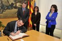 El conseller de Territori i Sostenibilitat, Santi Vila, visita l'Ajuntament de Mataró