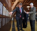 El president Maragall visita la Nau Gaudí