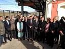 L'alcalde participa en el viatge inaugural de la nova línia de tren que uneix Mataró amb Girona i Figueres