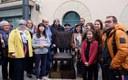 Mataró recorda l'alcalde republicà i Fill Adoptiu de la Ciutat Josep Abril amb una escultura en bronze de Perecoll