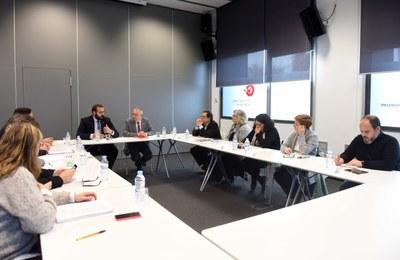 Reunió de la Comissió Executiva del Consell Econòmic i Social de Mataró. Foto: Marga Cruz