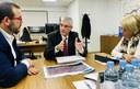 L'alcalde es reuneix amb el president de Renfe per integrar l'estació amb el futur pas subterrani de la ronda de Barceló