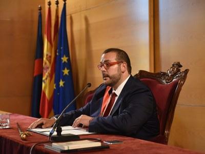 Discurs d'investidura de l'alcalde, David Bote. Foto: Marga Cruz