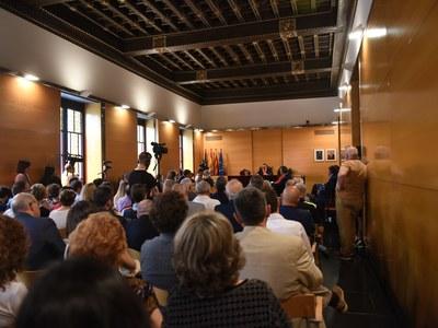 El públic, durant el discurs d'investidura de l'alcalde, David Bote. Foto: Marga Cruz