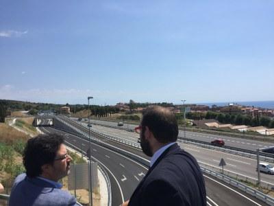 L'alcalde, David Bote, i el secretari d'Infraestructures i Mobilitat, Isidre Gavín. Foto: Ajuntament