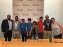 L'alcalde rep la presidenta de l'Escola de Vela, els germans Muñoz i Àlex Fores pels resultats als Special Olympics World Games
