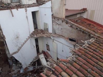 Part de la coberta de les finques enfonsades