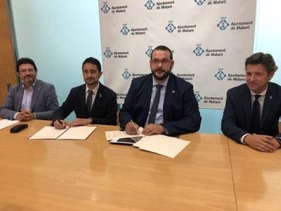 Signatura del conveni de cessió de l'N-II