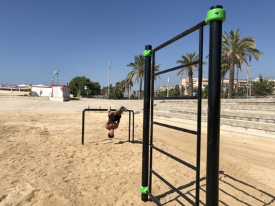 El park workout està situat al costat del Port. Foto: Ajuntament