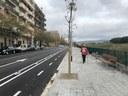 La reurbanització de la ronda de Miguel de Cervantes crea un passeig de 850 metres paral·lel a la riera de Sant Simó