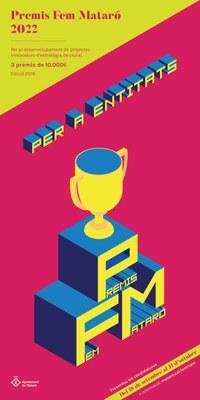 Cartell de la convocatòria dels Premis Fem Mataró 2022