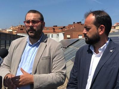 L'alcalde, David Bote, i el regidor de Transició Energètica, Xesco Gomar. Foto: Ajuntament