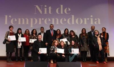 Empreses guardonades amb el certificat RSO. Foto: Albert Canalejo