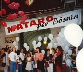 """Imatge d'arxiu """"Mataró per Bòsnia"""" cedida per MEM"""