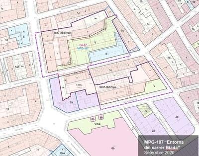 Àmbit del nou planejament urbanístic per als Entorns Biada