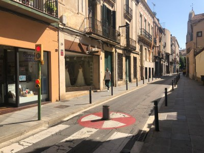 L'accés a La Riera des del carrer de Sant Josep. Foto: Ajuntament.