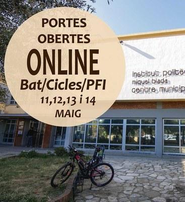 L'Institut municipal Miquel Biada ofereix portes obertes virtuals de l'11 al 14 de maig per als Cicles Formatius, Batxillerat i PFI