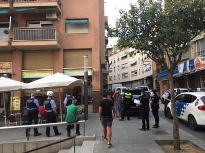 Dispotiu policial conjunt. Foto: Policia Local de Mataró