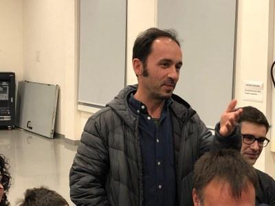 El guanyador de la Beca Joan Peiró, Diego Sáez Ujaque. Foto: Ajuntament