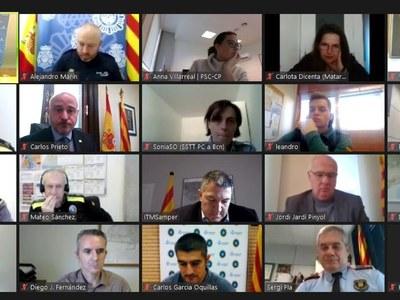 La Junta Local de Seguretat, celebrada dijous 11 de febrer. Foto: Ajuntament