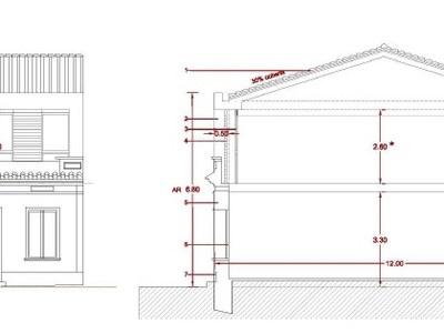 Proposta façana amb 2 plantes