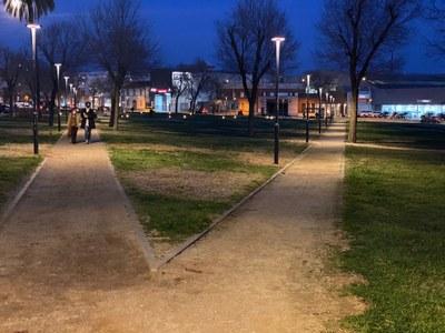 Il·luminació al Parc de la Pollancreda. Foto: JV