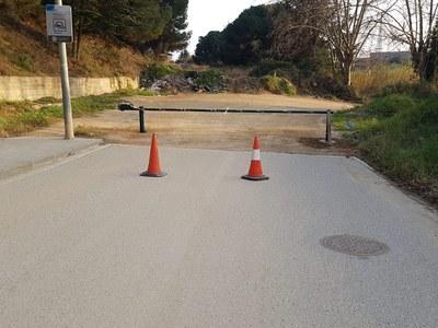 Barrera instal·lada a la zona de Vallveric. Foto: Ajuntament