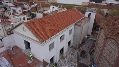 Estado del espacio antes de las obras. Enero del 2020. Foto: Ayuntamiento de Mataró