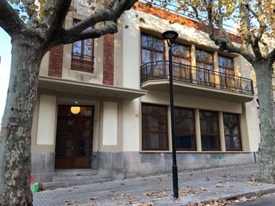 Fachada del Cafè Nou. Noviembre del 2020. Foto: Ayuntamiento de Mataró
