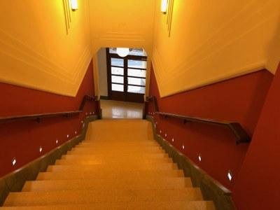 Interior del Cafè Nou. Final de la obra civil. Noviembre del 2020. Foto: Ayuntamiento de Mataró