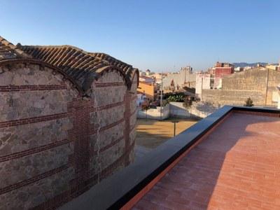 Azotea del Cafè Nou. Final de la obra civil. Noviembre del 2020. Foto: Ayuntamiento de Mataró