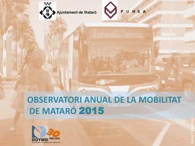 Observatori anual de la Mobilitat a Mataró 2015. Mobilitat (22/07/2016)