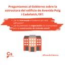 Ciutadans Mataró pregunta al gobierno sobre la construcción de vivienda social en la ciudad
