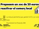 Proposem un xec de 20 euros per reactivar el comerç local