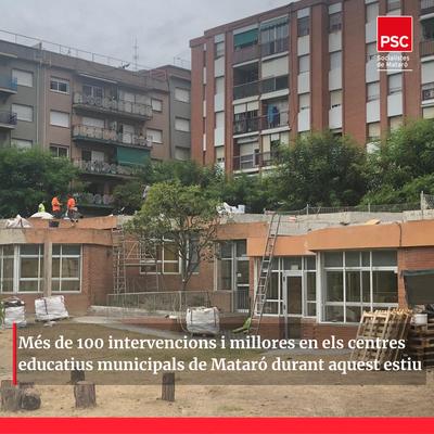 Més de 100 intervencions i millores en centres educatius municipals durant aquest estiu