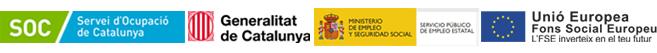 Programa subvencionat pel Servei Públic d'Ocupació de Catalunya, el Ministeri d'Ocupació i Seguretat Social i el Fons Social Europeu.