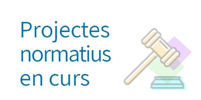 Projectes normatius en curs