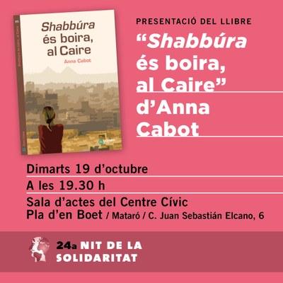 """Presentació del Llibre """"Shabbúra és boira, al Cair..."""