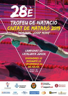 """28è Trofeu de Natació  Ciutat de Mataró  2019""""Memo..."""